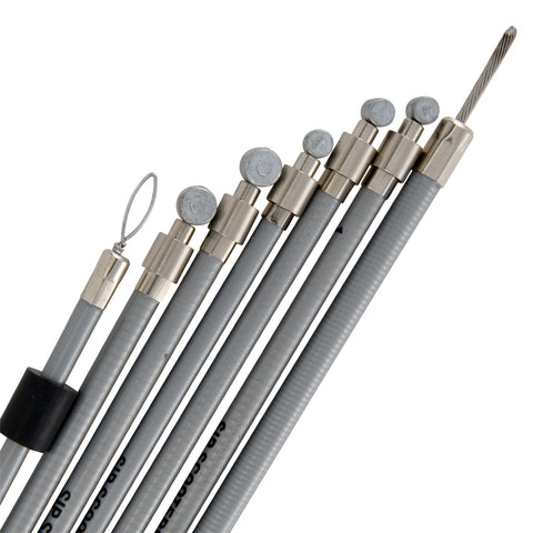 SIP Performance Stainless Steel Cable Set - Grey - Vespa Sprint Super Rally