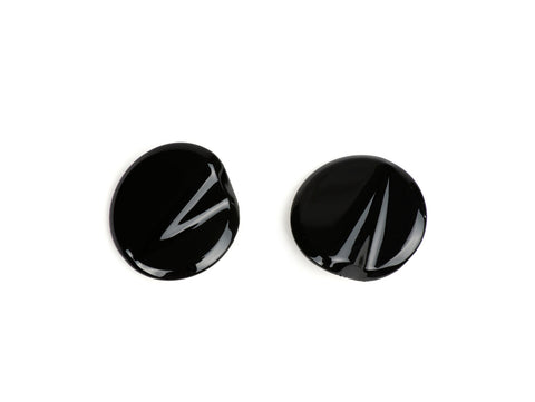BGM Pro Pair of Mirror Hole Covers in Black - Vespa GTS