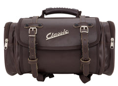 SIP Classic 10 Litre Leather Look Bag in Brown - Vespa Lambretta