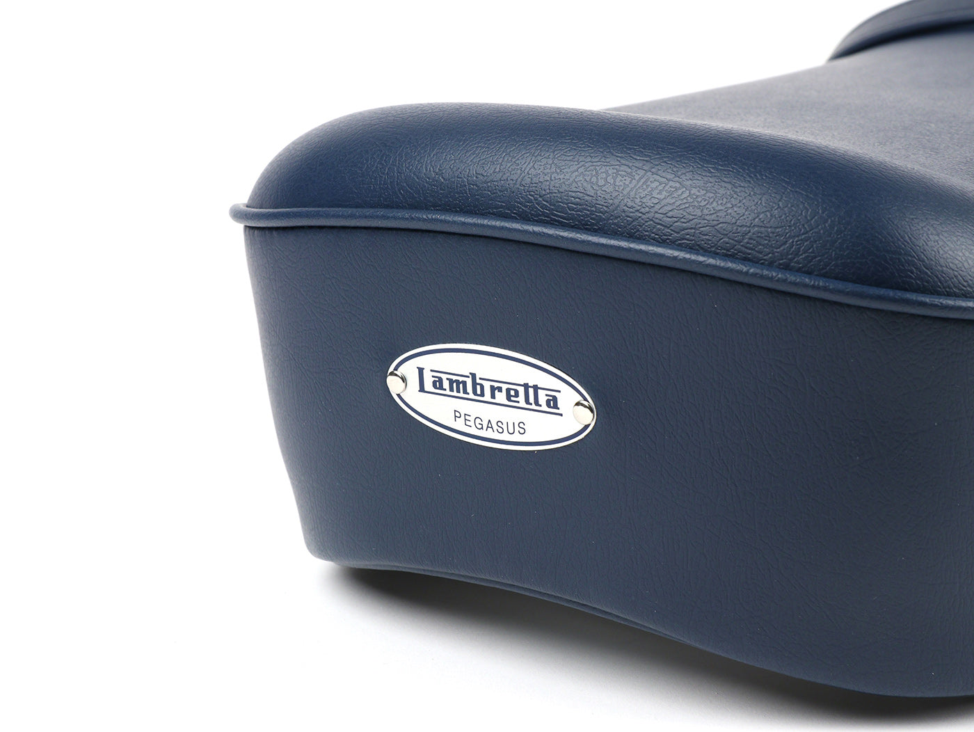 BGM Pro Pegasus Seat with Badge in Blue - Lambretta LI SX TV GP