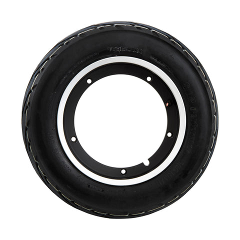 SIP Tubeless Wheel Rim in Matt Black Polished Rim + Performer Tyre - Vespa PX T5 LML