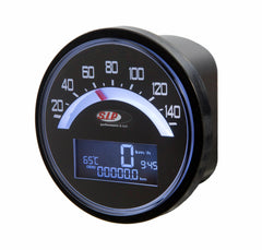 SIP Digital Speedo / Rev Counter in Black - Lambretta LI TV Series 1 2