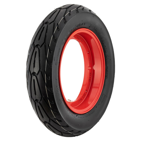 SIP Tubeless Wheel Rim in Red + Performer Tyre - Vespa PX T5 LML