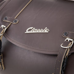 SIP Classic 35 Litre Leather Look Bag in Brown - Vespa Lambretta