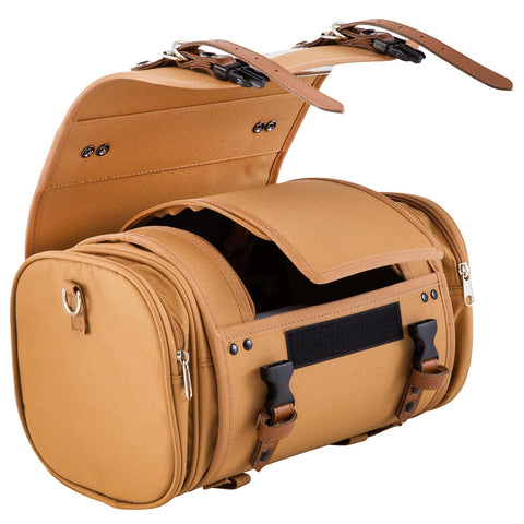SIP Classic 10 Litre Canvas Bag in Tan Brown - Vespa Lambretta
