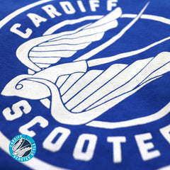 Cardiff Scooter Style Ringer T-shirt - Vespa Lambretta Scootering Tee