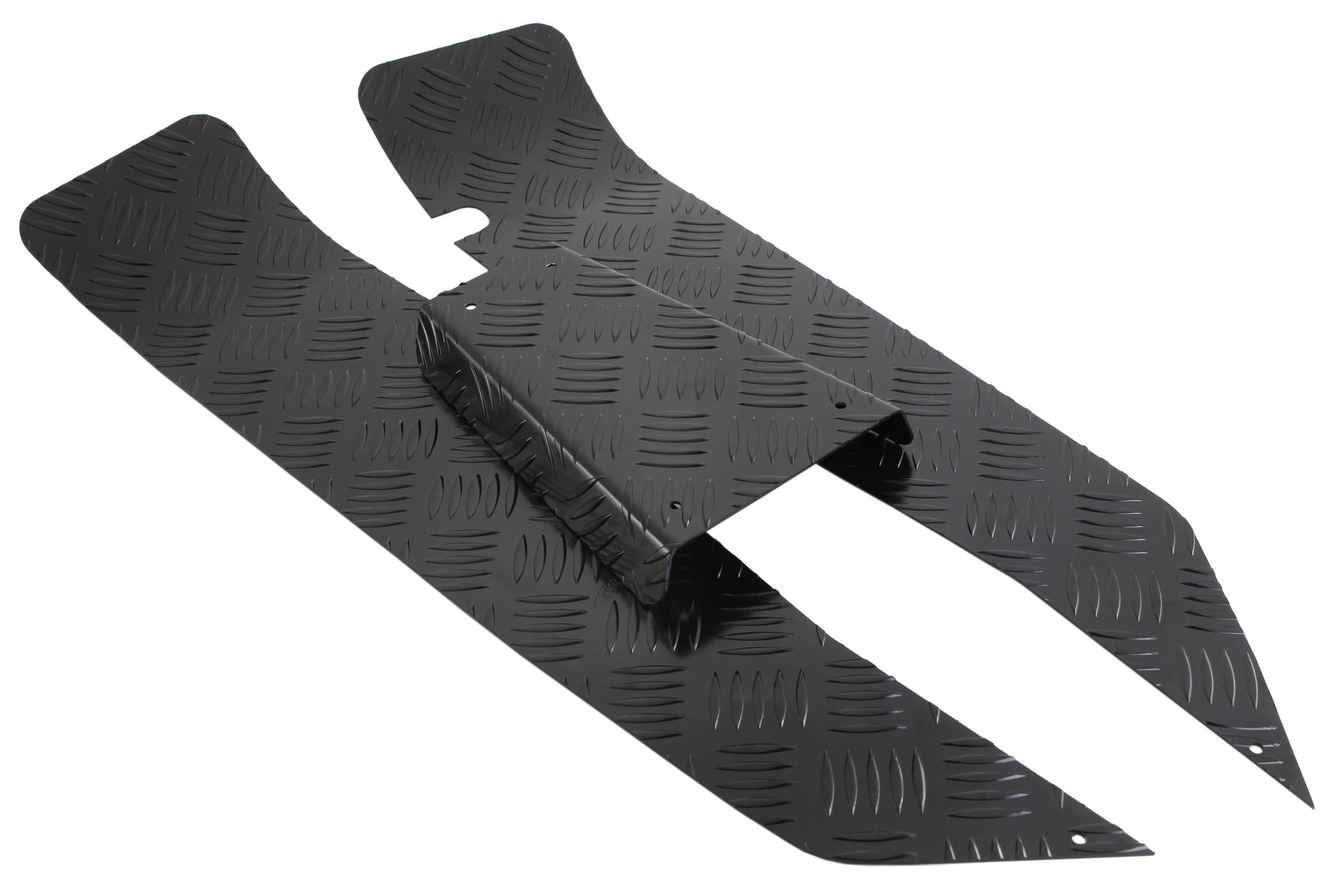 SIP Checker Floor Plates in Black - Vespa Smallframe
