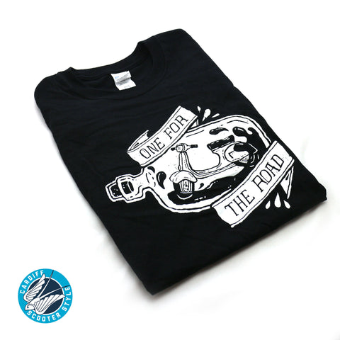 One For The Road T-Shirt - Vespa Lambretta Scooter Tee