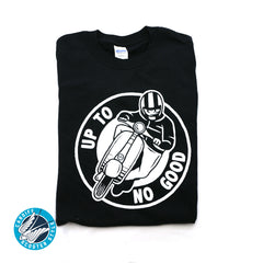 Up To No Good T-Shirt - Vespa Lambretta Scooter Tee