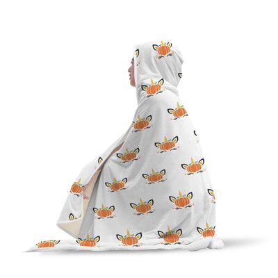 Pumpkin Unicorn Hooded Blanket