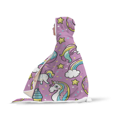 Unicorn & Cat Hooded Blanket
