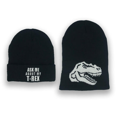 Ask Me About My T-Rex Kids Surprise Beanie