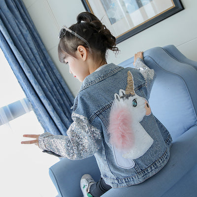 Girls Unicorn Jacket