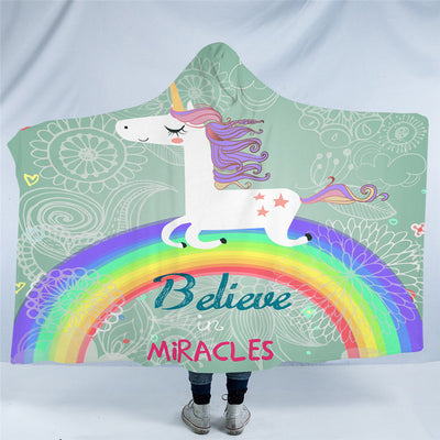 Believe in Miracles Hooded Blanket
