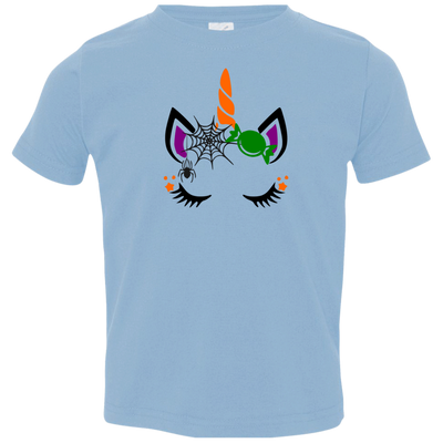 Halloween Unicorn Toddler Jersey T-Shirt