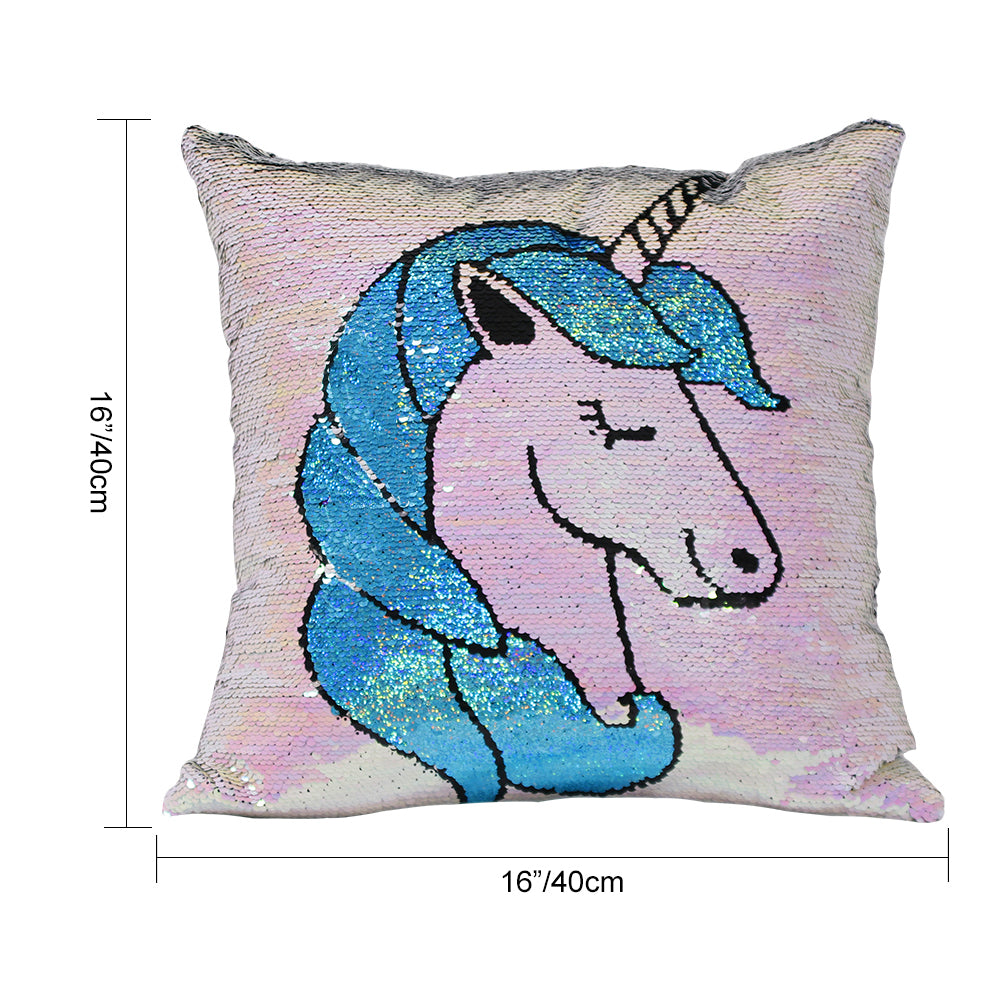 Unicorn Reversible Sequins Pillow Best Unicorn Gifts