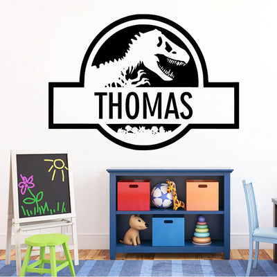 Personalised Jurassic Park Dinosaur Wall Decal Wall Vinyl Sticker