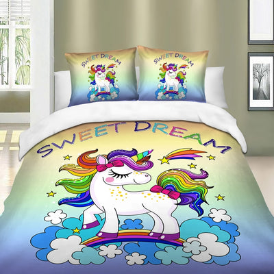 Rainbow Unicorn Bedding Set (3PCS)