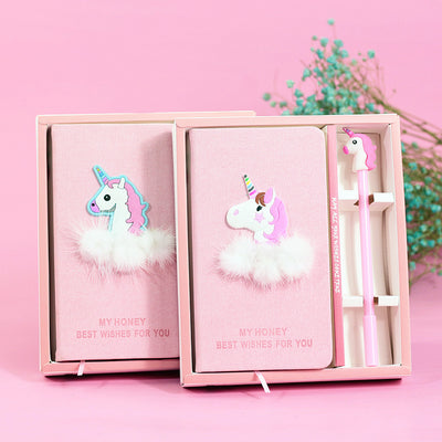 HARDCOVER UNICORN NOTEBOOK WITH PEN (WITH GIFT BOX)