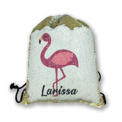 Personalized Sequin Drawstring Backpack