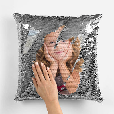 Custom Sequin Pillow | Mermaid Pillow with Any Photo