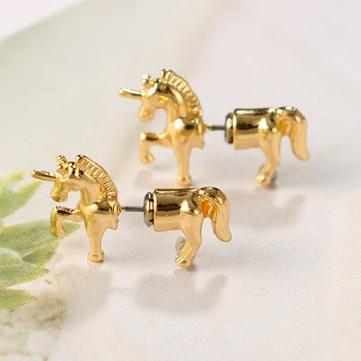 Handmade Zinc Alloy Magical Unicorn Earrings