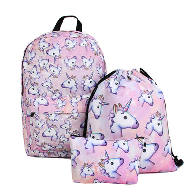 Unicorn Emoji Backpack(3PCS)