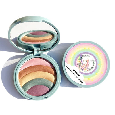 Unicorn Rainbow Highlighter Makeup Palette