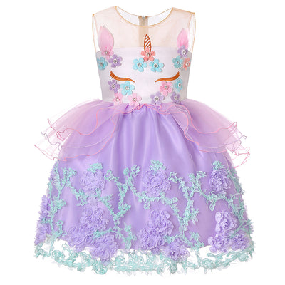 GIRLS UNICORN PARTY TUTU DRESS