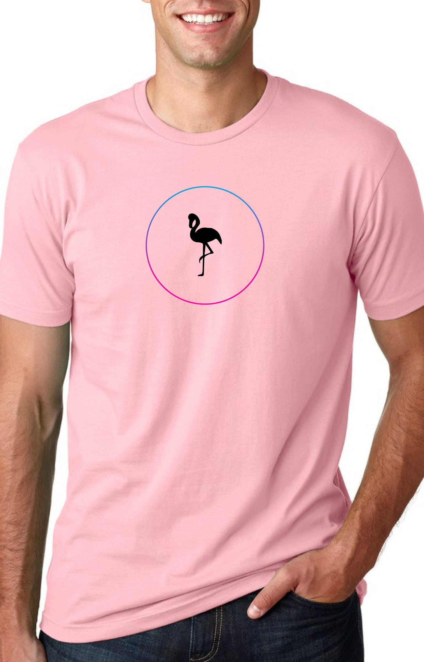 Native Flamingo GeoFrame Chest Logo
