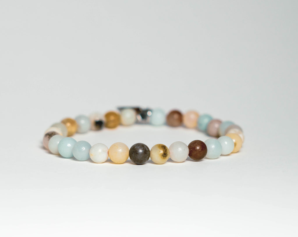 6mm Amazonite bead bracelet