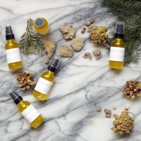 Deep Woods: conifer body oil