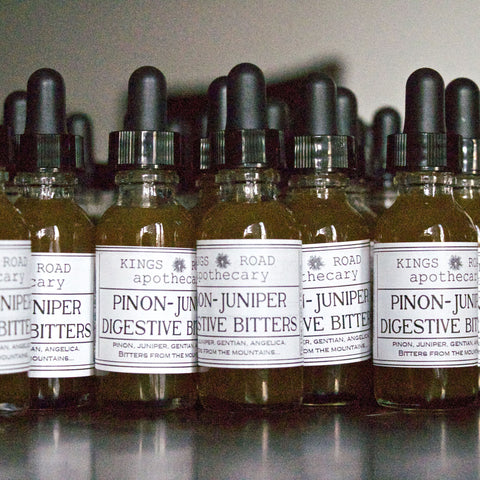 Pinon pine and juniper digestive bitters