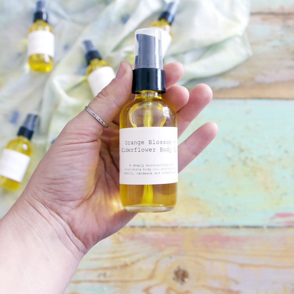 Orange blossom + elderflower body oil