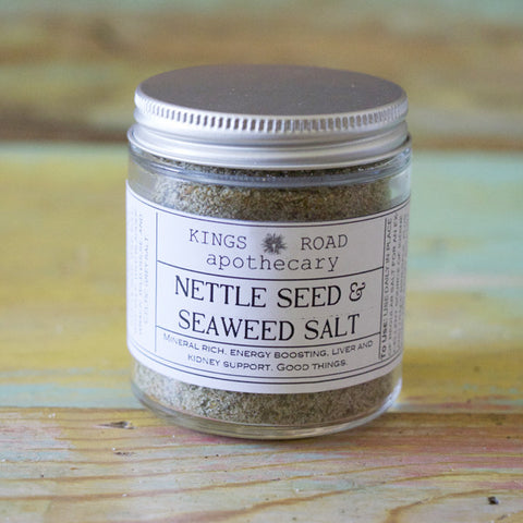 Nettle seed and seaweed salt.