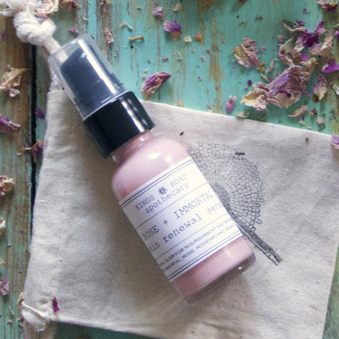 Rose + Immortelle face renewal serum