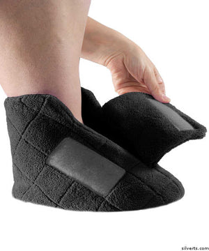 Extra Wide Swollen Feet Slippers - Soft Cozy Comfortable