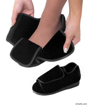 Womens Extra Extra Wide Width Adaptive Slippers - Deep Diabetic & Edema Slippers