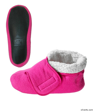 Womens Deep Wide Diabetic Bootie Slipper & Mens Deep Wide Bootie Slippers With Adjustable Closures - Diabetic & Edema