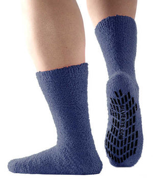 Hospital Socks - Non Skid / Anti Slip Grip Socks For Women / Mens Non Slip