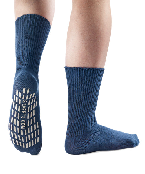 Diabetic Socks - Non Skid / No Slip Grip Hospital Socks - 2 Pack Savings -