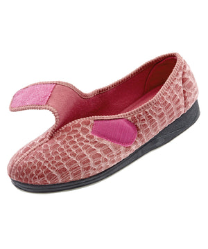 Womens Extra Wide Comfort Slippers - Womens House Slippers With Adjustable