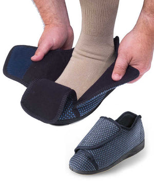 Mens Extra Extra Wide Slippers - Swollen Feet -  Diabetic & Edema Deep