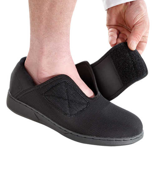 Men's Extra Wide Comfort Steps Shoes Easy Touch Footwear For Swollen Feet