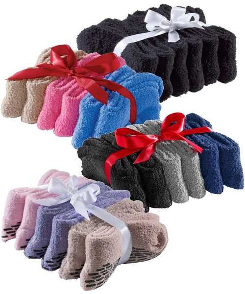 Hospital Socks Non Skid / Anti Slip Grip Socks For Women - 6 Pack Price - Mens Non Slip Grip Socks - Skid Socks - Regular Size & Xl Bariatric