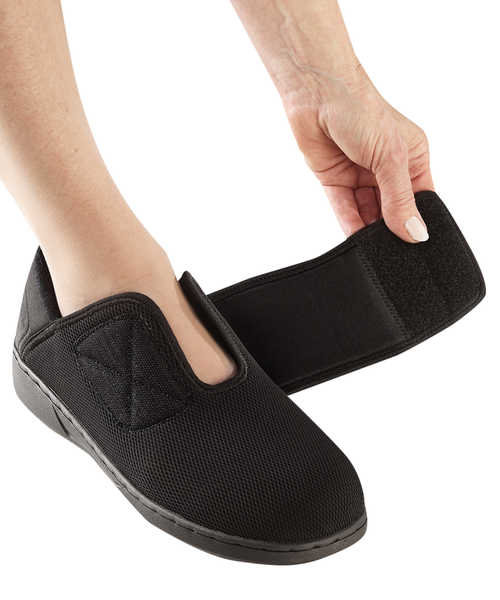 Women's Extra Wide Comfort Step Shoes - Easy Touch Footwear For Swollen Feet