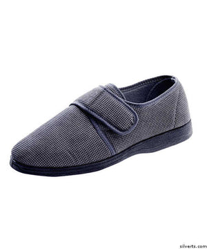 Men's Wide Adjustable Closure Slippers - Fits Up To Size 14 - Soft Comfy Slippers