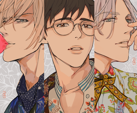 Yuri on Ice 'COVER' pearl postcards/miniprints [SET]