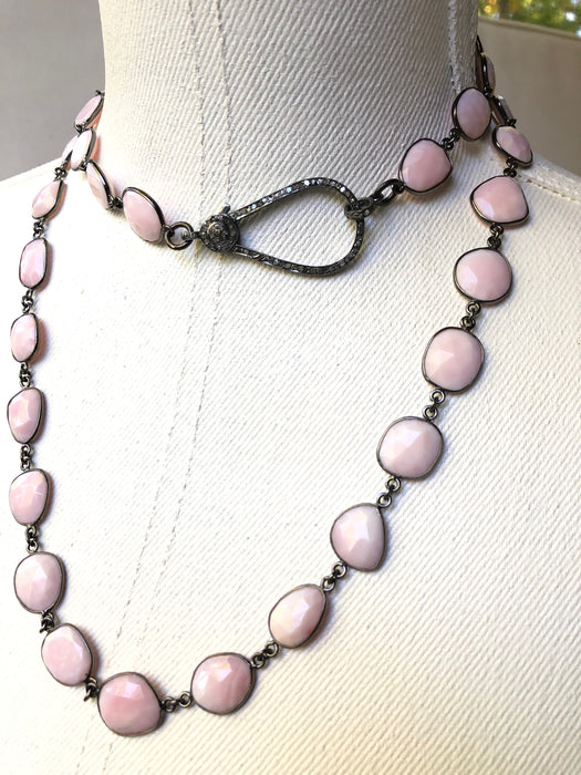 The Pink Opal Faceted Necklace