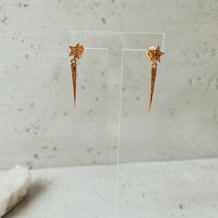 The Golden Spike Star Earrings